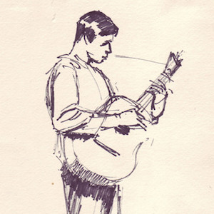 Man with Guitar sketch