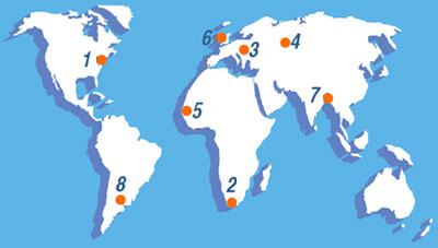 Map of International Coalition of Historic Site Museums of Conscience