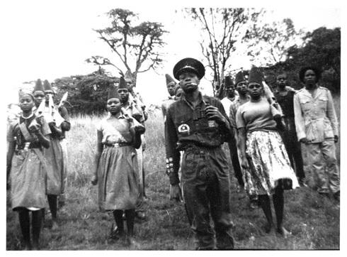 Photo of a mixed-sex guerilla band