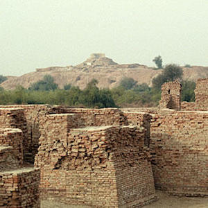 "Thumbnail image of Mohenjo Daro, or ""Mound of the Dead,"" site in the Indus Valley"