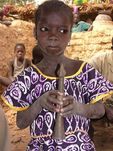 Photograph of girl from a village in the Mossi country of Burkina Faso