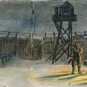 Drawing of Corrective Labor Camp