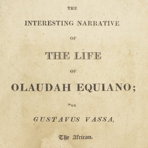 Title page for The Interesting Narrative of the Life of Olaudah Equiano