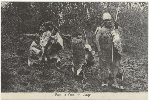 photograph of Ona Family Group of Tierra del Fuego