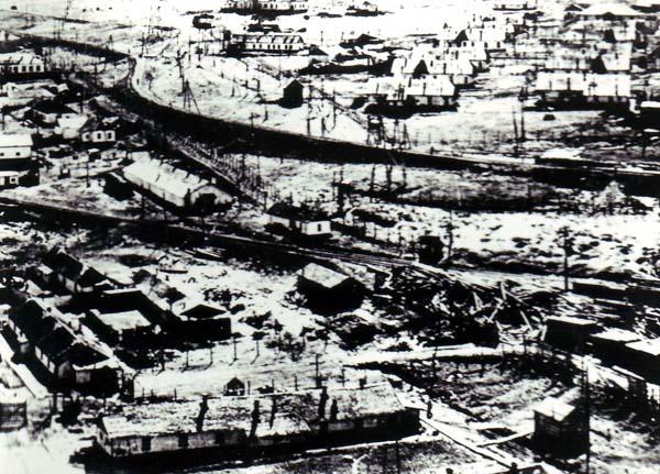 Overhead panoramic photograph of Vorkuta Camp