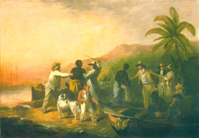 Painting of a slave sale