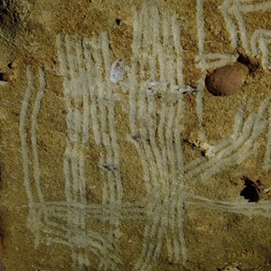 Paleolithic Finger Flutings Cave Drawing thumbnail image