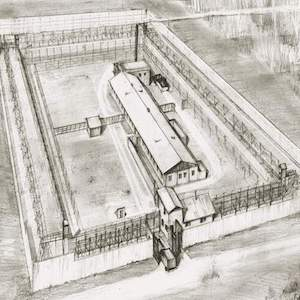 Aerial View of Maximum Security Camp Perm 36
