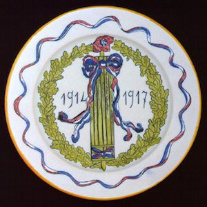 Plate: 1914–17 Quimper China