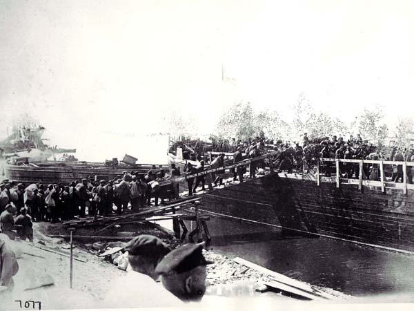 Prisoners Boarding Ship