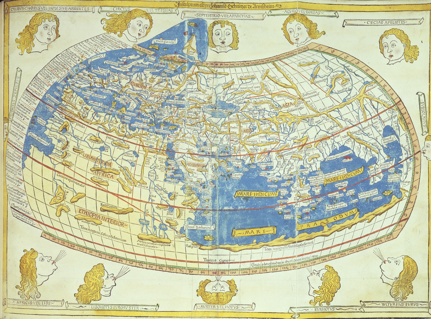 Image of the Latin reconstitution of Ptolemy's world map