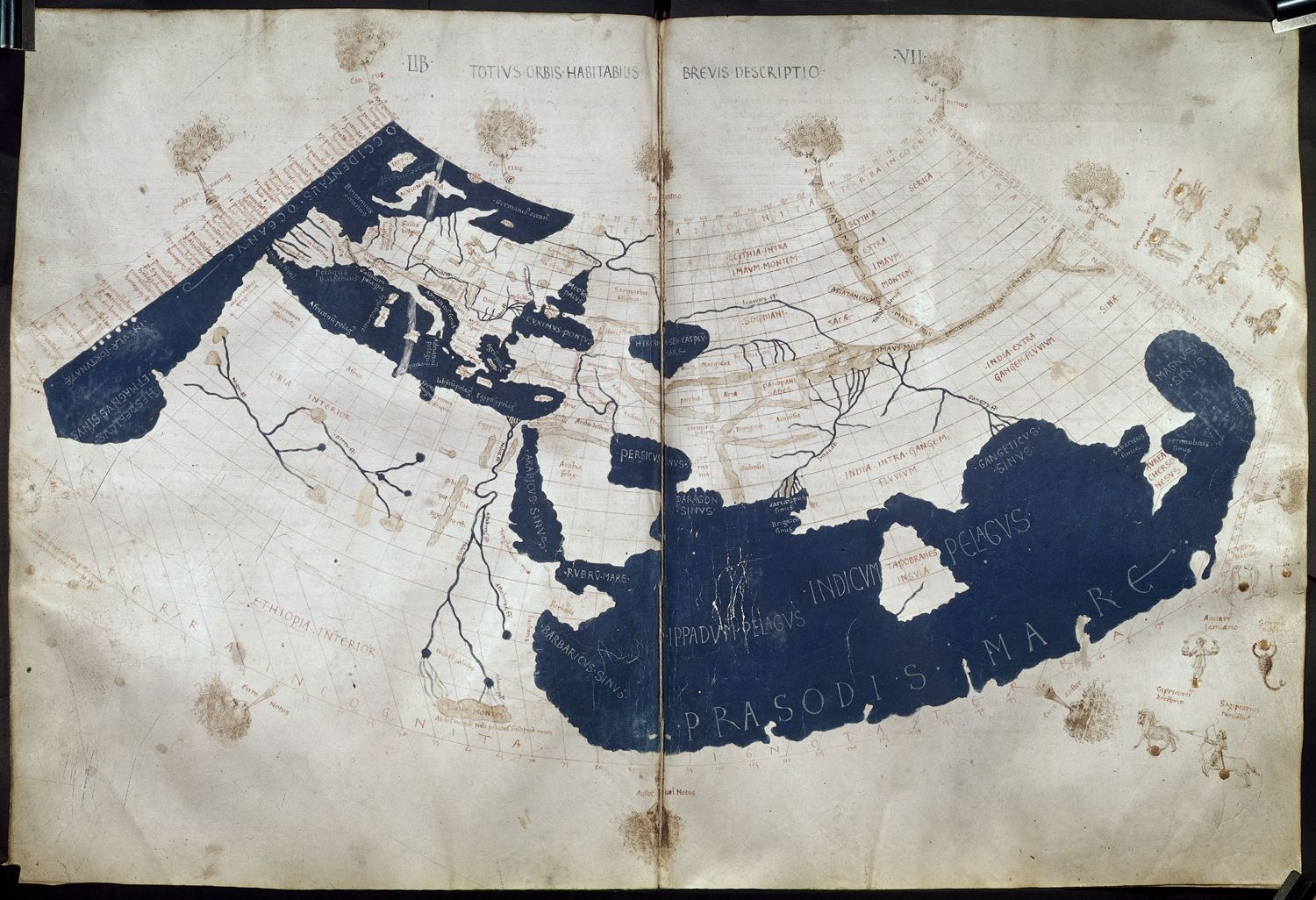 Image of Latin reconstitution of Ptolemy's world map