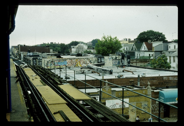 Photo of cityscape from subway platform