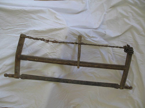 Saw Used By Timber Camp Prisoners