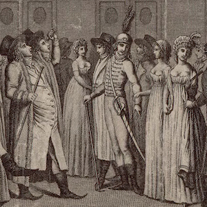Scene of Directory Life, Men and Women from L'Optique du Jour