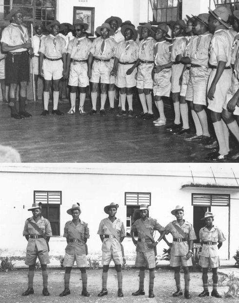 Photo of South African scout troop