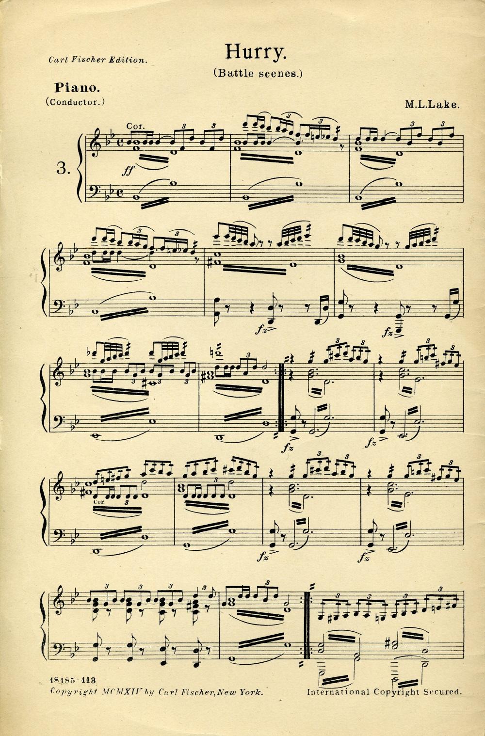 Silent Movie Sheet Music
