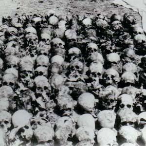 Photograph of Skulls at Donetsk