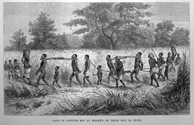 Photo of captive Africans