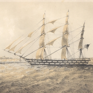 Image of a slave trading vessel