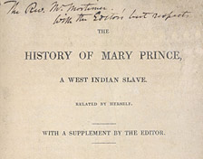 thumbnail of the history of mary prince