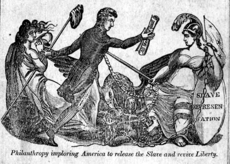 Title image from A picture of slavery, for youth by Jonathan Walker