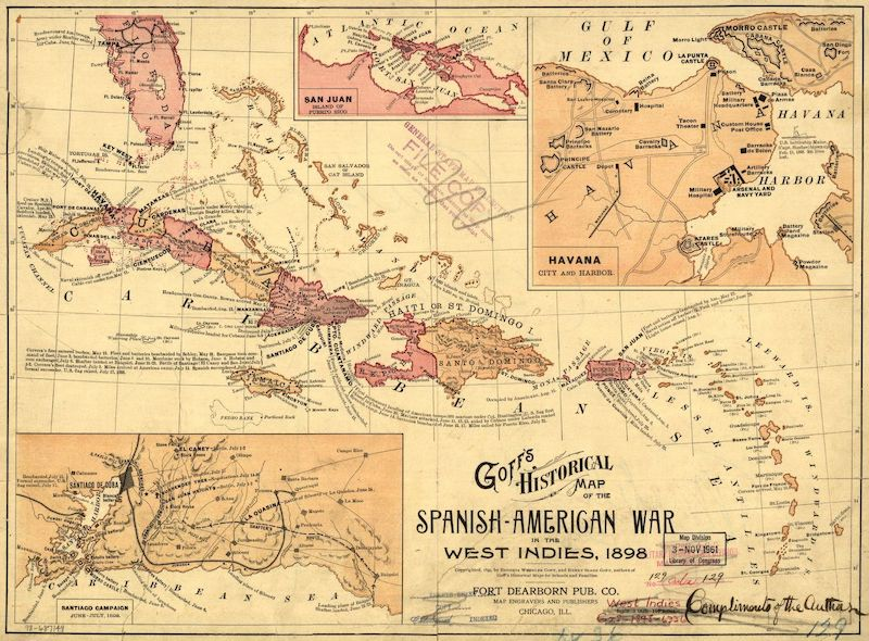 Map from the Spanish American War in 1898