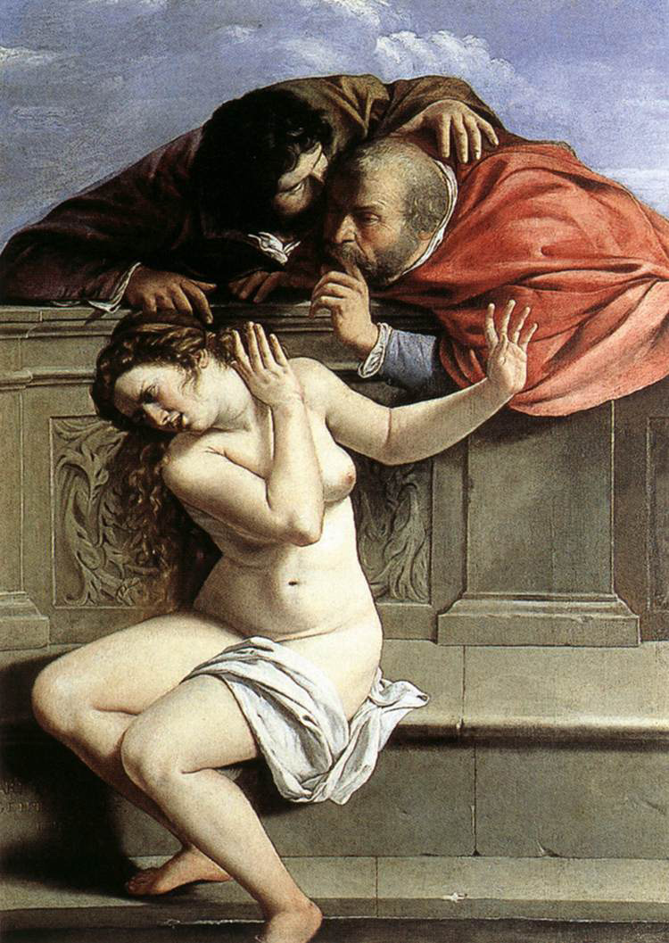Susanna and the Elders painting