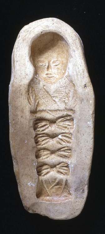 Earthenware Mold of a Swaddled Child