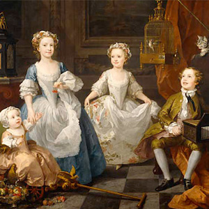 Thumbnail of painting of 4 children