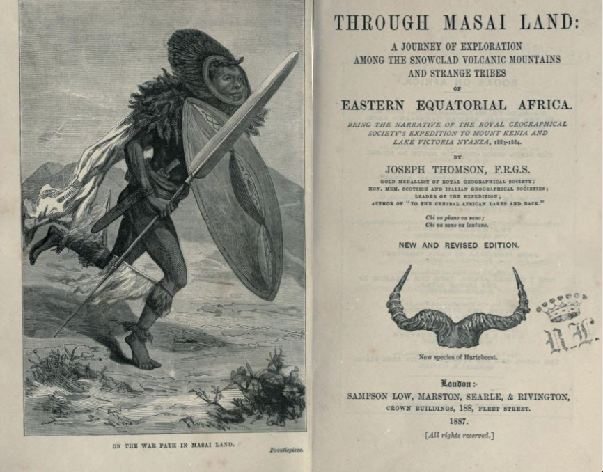 Through Masai Land title page