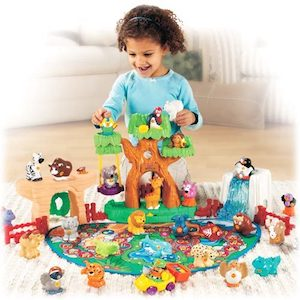 Image of a girl playing with toys