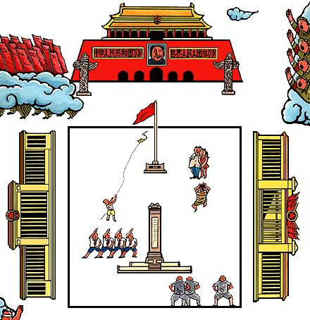 Map of Tiananmen Square from the site's virtual tour