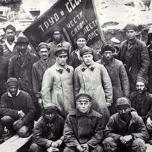 Shock Workers Visiting Valdai