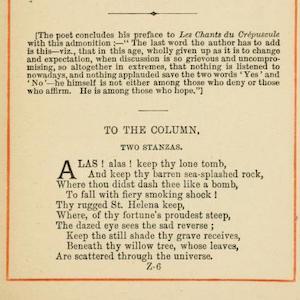 A Poem by Victor Hugo (1830)