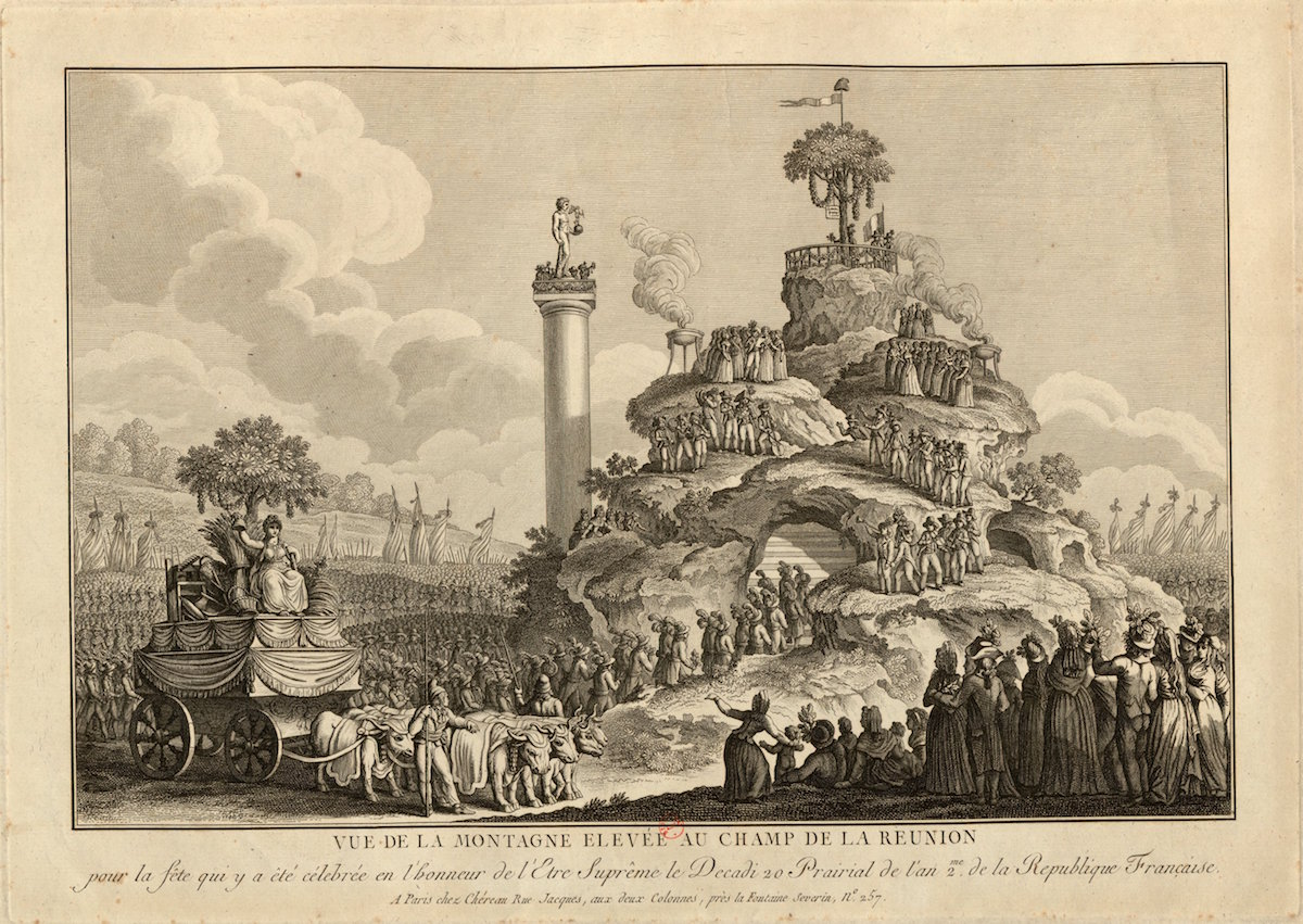 Engraving of View of the Mound of Champ de la Reunion