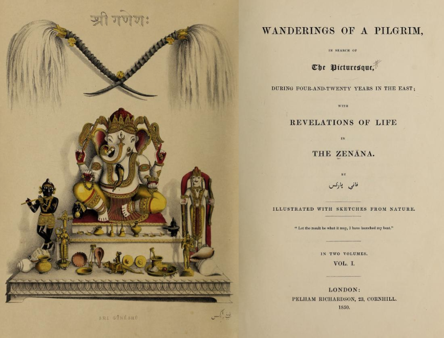Title pages of Wanderings of a Pilgrim in Search of the Picturesque