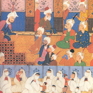 Thumbnail of women and children in mosque