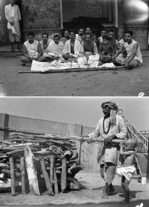 Photograph of Hindu cremation ceremony
